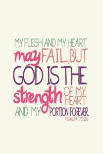 God is my portion forever