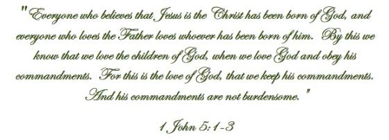 1 John 5.1-3