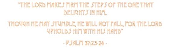 psalm 37.23-24